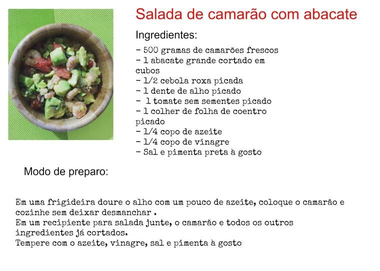 Salada de camarão receita